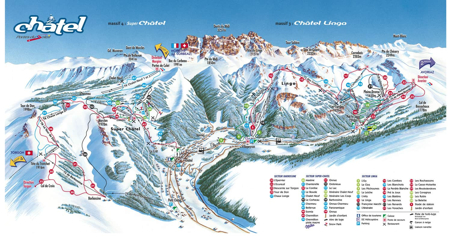 Chatel-Piste-Map-Local