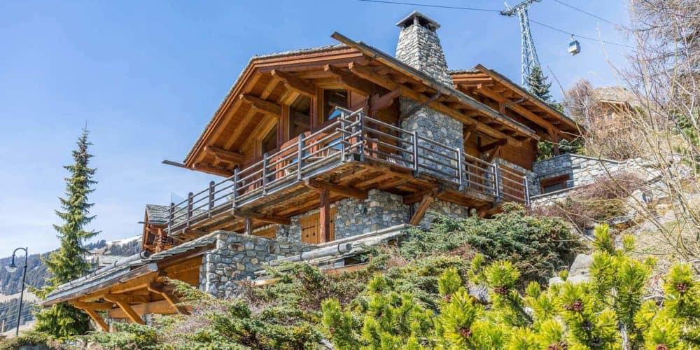 Luxury real estate in Switzerland Chalet Bourbon exterior Verbier