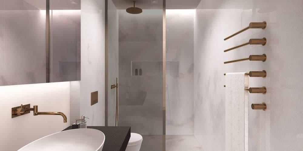 Luxury real estate in Switzerland bathroom Florens Lake Brienz