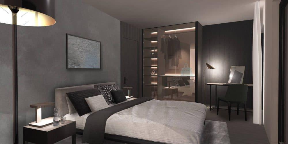 Luxury real estate in Switzerland bedroom Florens Lake Brienz