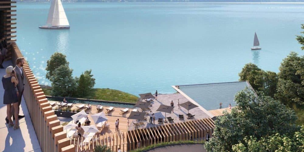Luxury real estate in Switzerland Florens view over Lake Brienz
