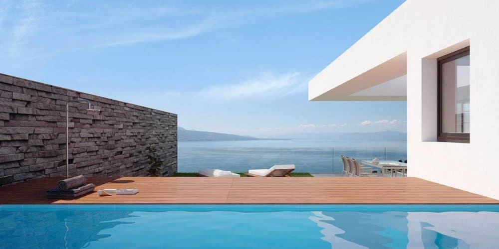 luxury real estate Switzerland Les Terraces de Lavaux swimming pool