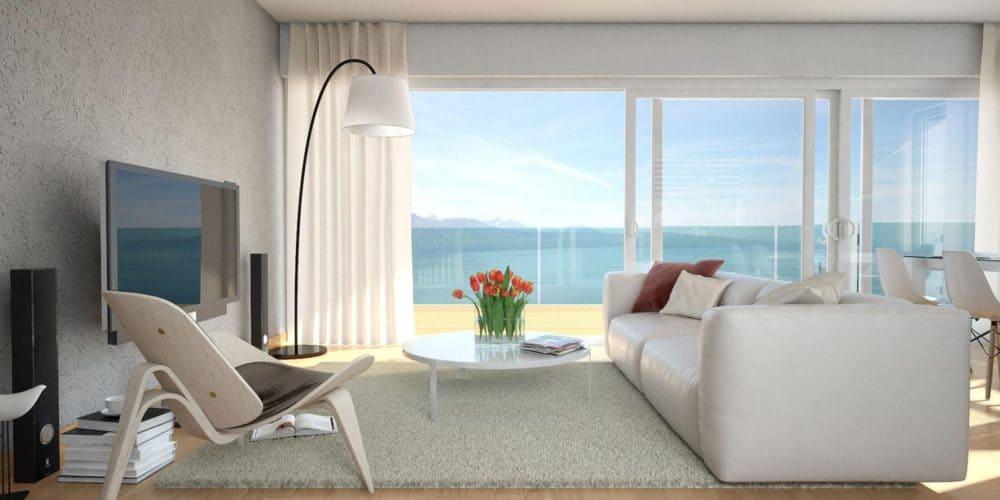 luxury real estate Switzerland Les Terraces de Lavaux sitting area