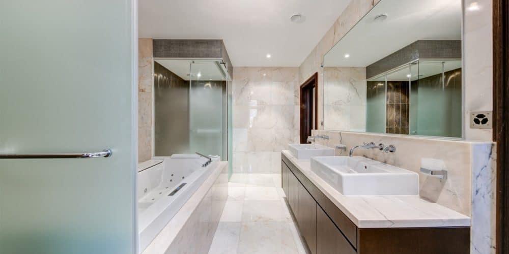 Luxury real estate in Switzerland deluxe bathroom Pelerin Palace