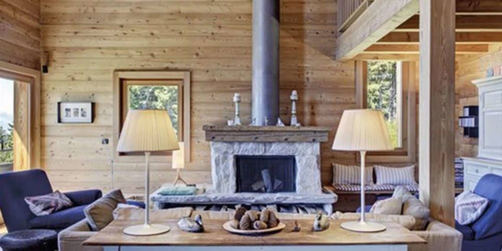Luxury real estate in Switzerland Le Ruisseau sitting room Villars-Gryon