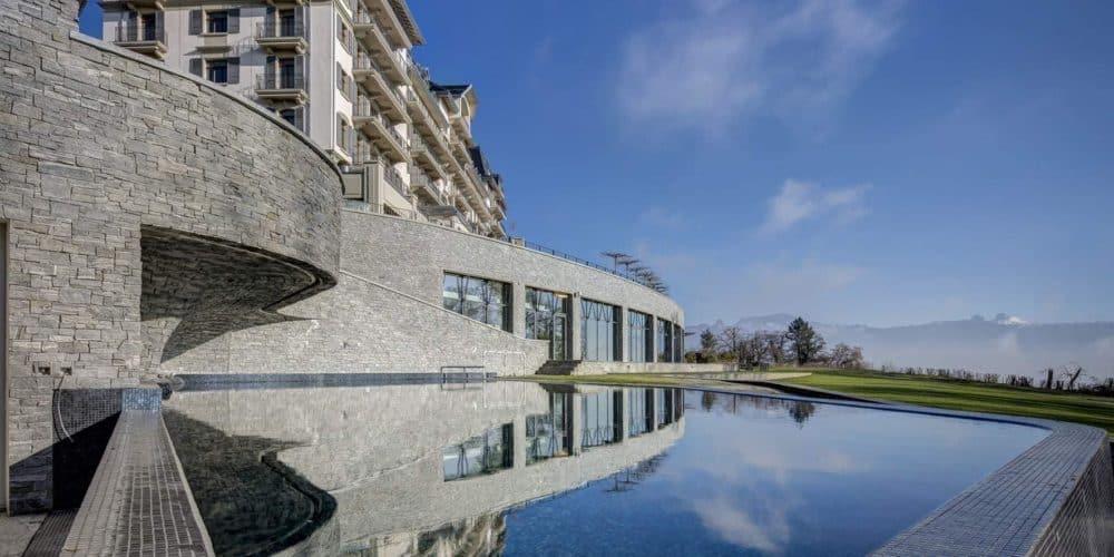 Luxury real estate in Switzerland Pelerin Palace exterior
