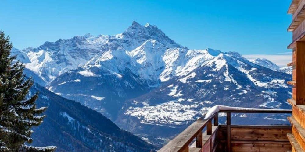 Luxury real estate in Switzerland Le Ruisseau view Villars-Gryon