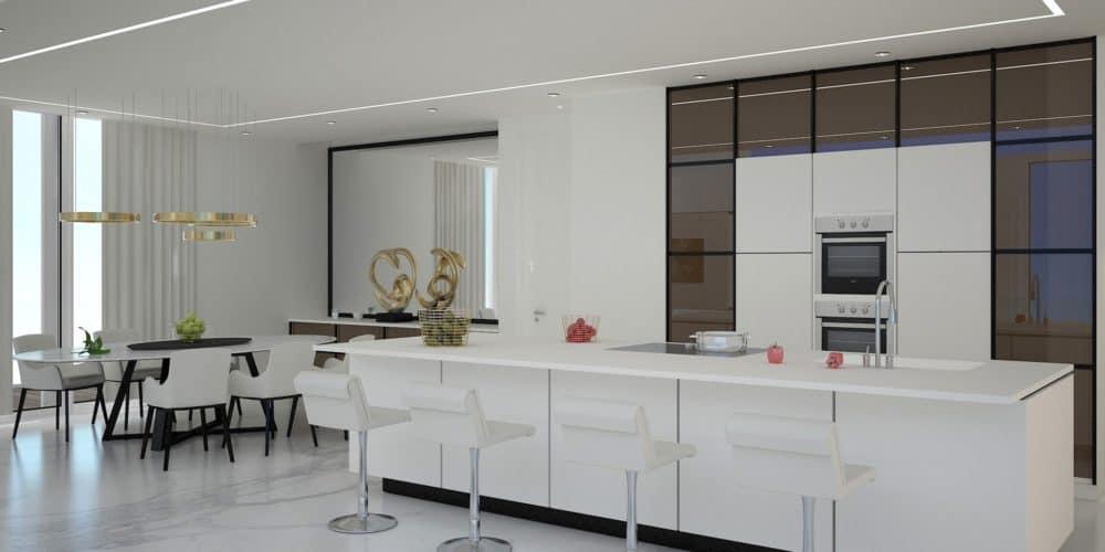 Luxury real estate Switzerland Les Terraces de Lavaux penthouse kitchen
