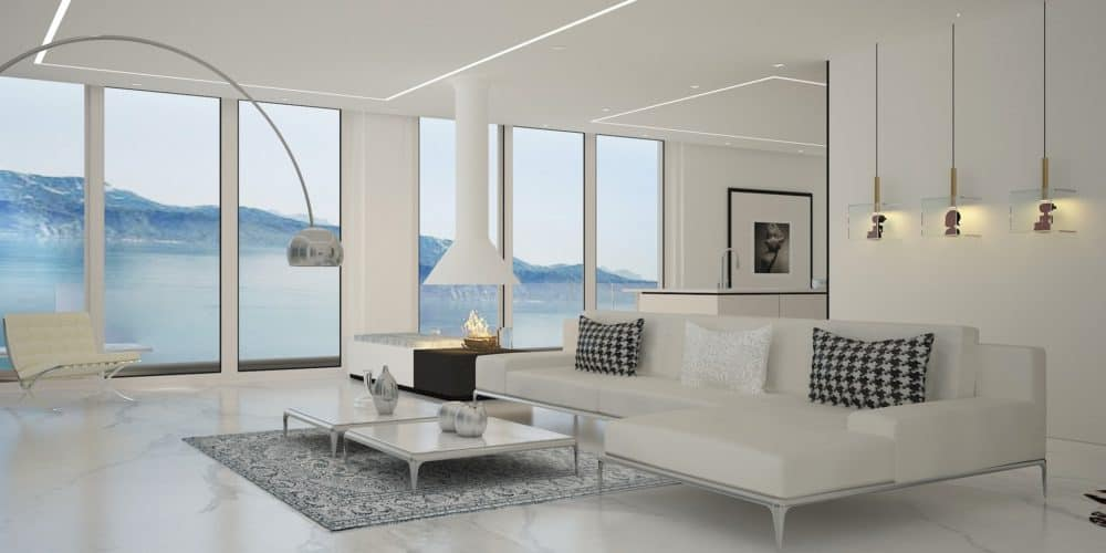 Luxury real estate Switzerland penthouse view