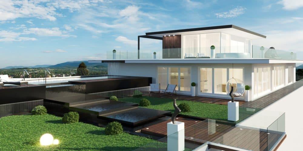 Luxury real estate Switzerland penthouse roof terrace