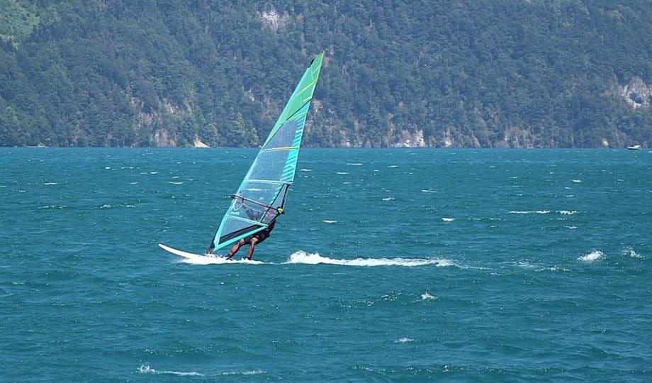 Windsurfing on Lake Lucerne