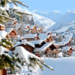 snow of roof three valleys ski resorts