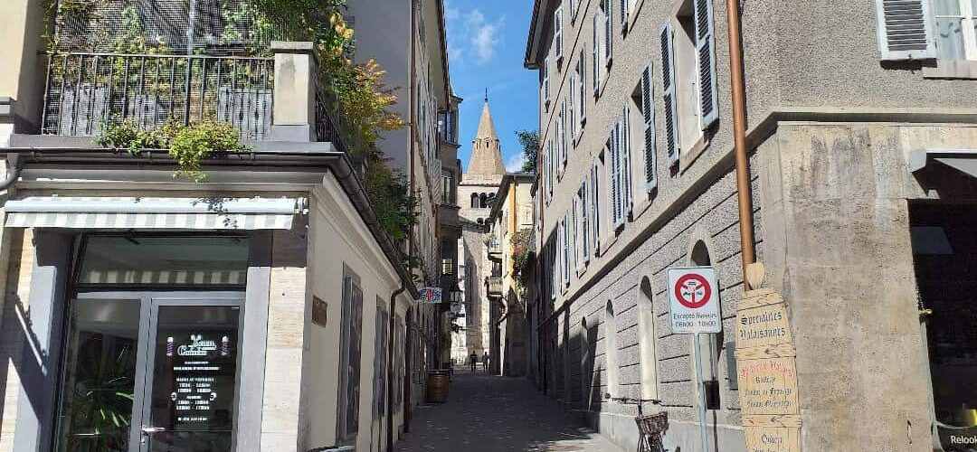 Swiss property and a street in Sion