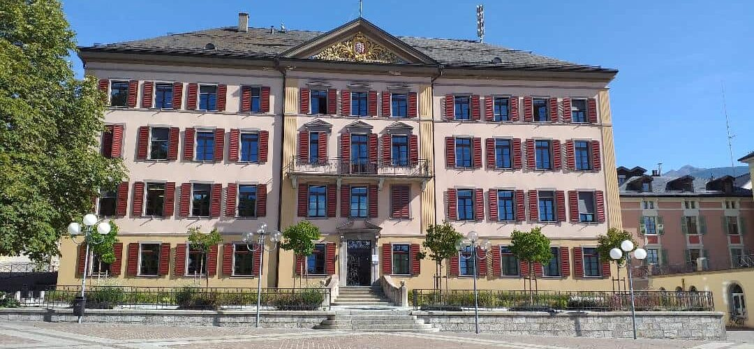 Swiss property and town hall in Sion